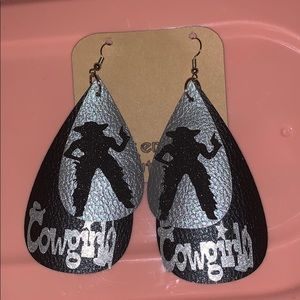 Faux Leather Cowgirl Earrings